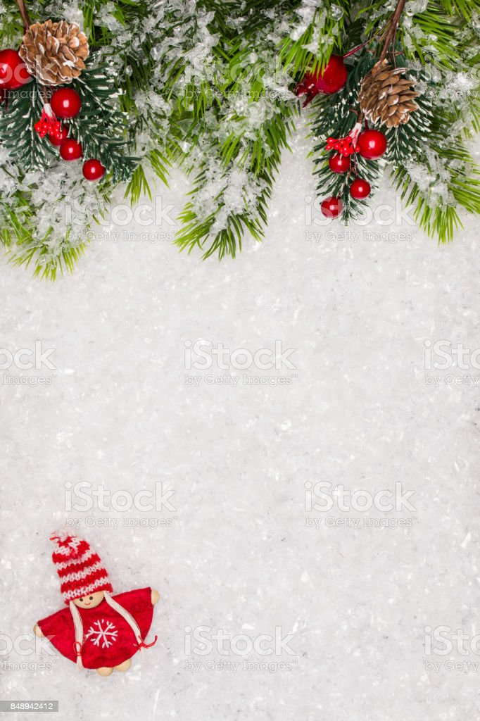 christmas border with copy space noel festive background new year