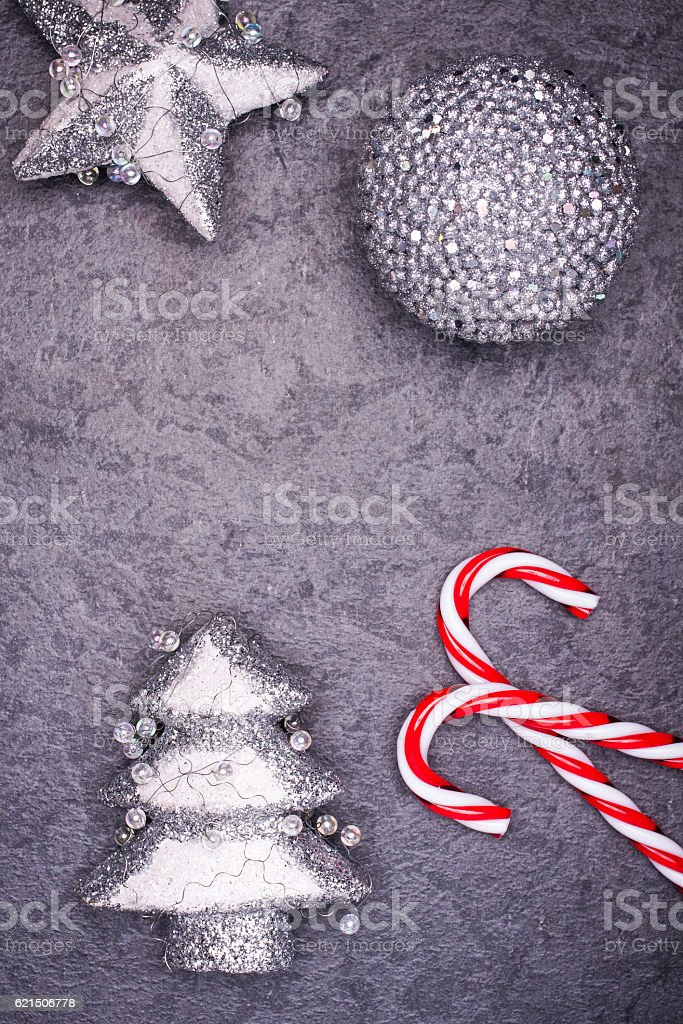 Christmas greeting card. Noel festive background. New year symbol foto stock royalty-free
