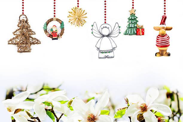 weihnachten grußkarte - schmuck engel stock-fotos und bilder