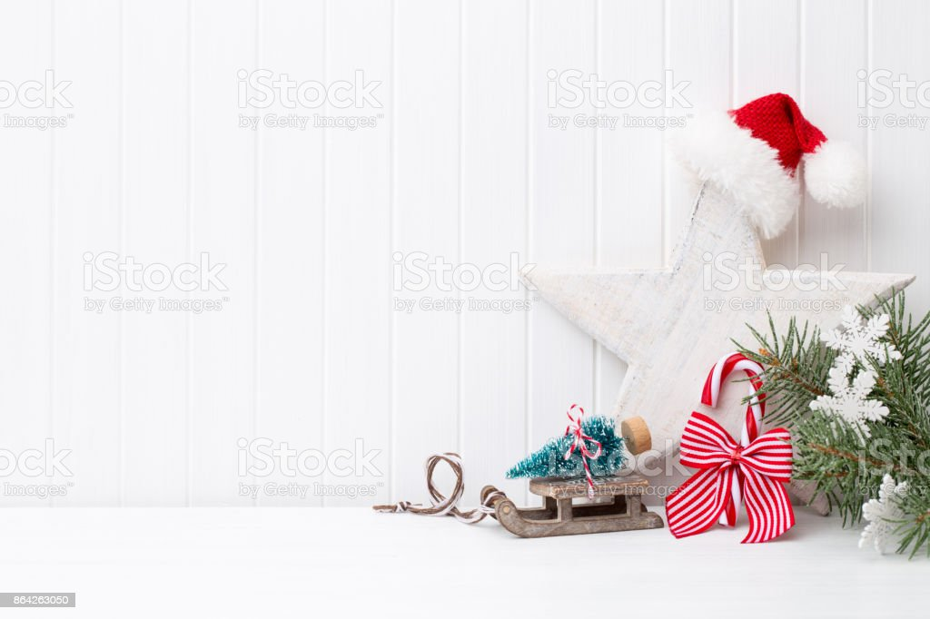 Christmas greeting card. royalty-free stock photo