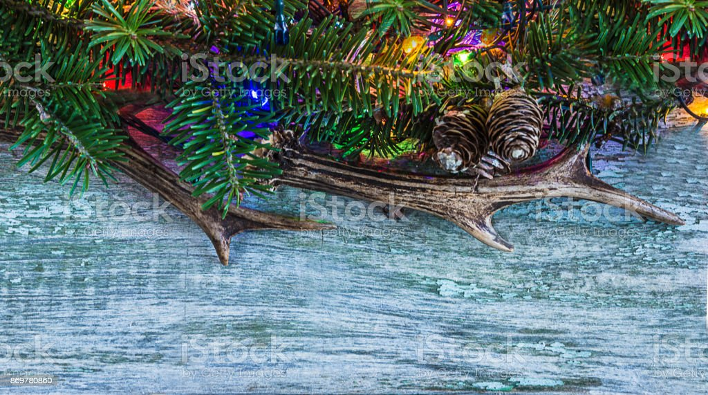 christmas greeting card template stock photo