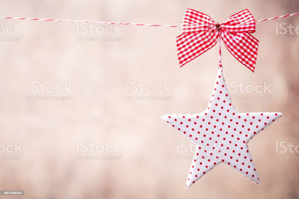 Christmas greeting card with christmas rustic decorations. royalty-free stock photo