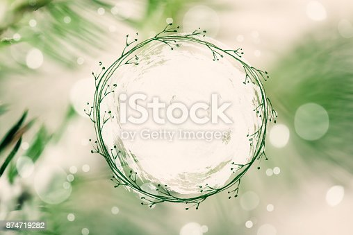 istock Christmas greeting card with copy space for your own text 874719282