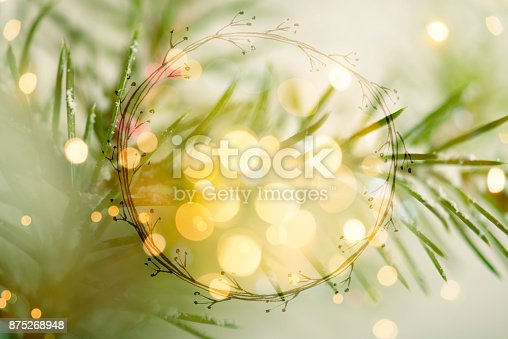 istock Christmas greeting card with copy space for your own text 875268948