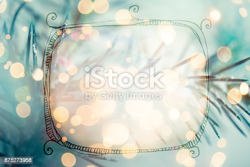 istock Christmas greeting card with copy space for your own text 875273958