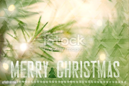istock Christmas Greeting Card With Handdrawing Eelements 618516158