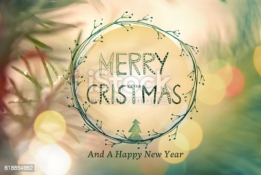istock Christmas Greeting Card With Handwriting Elements 618854952