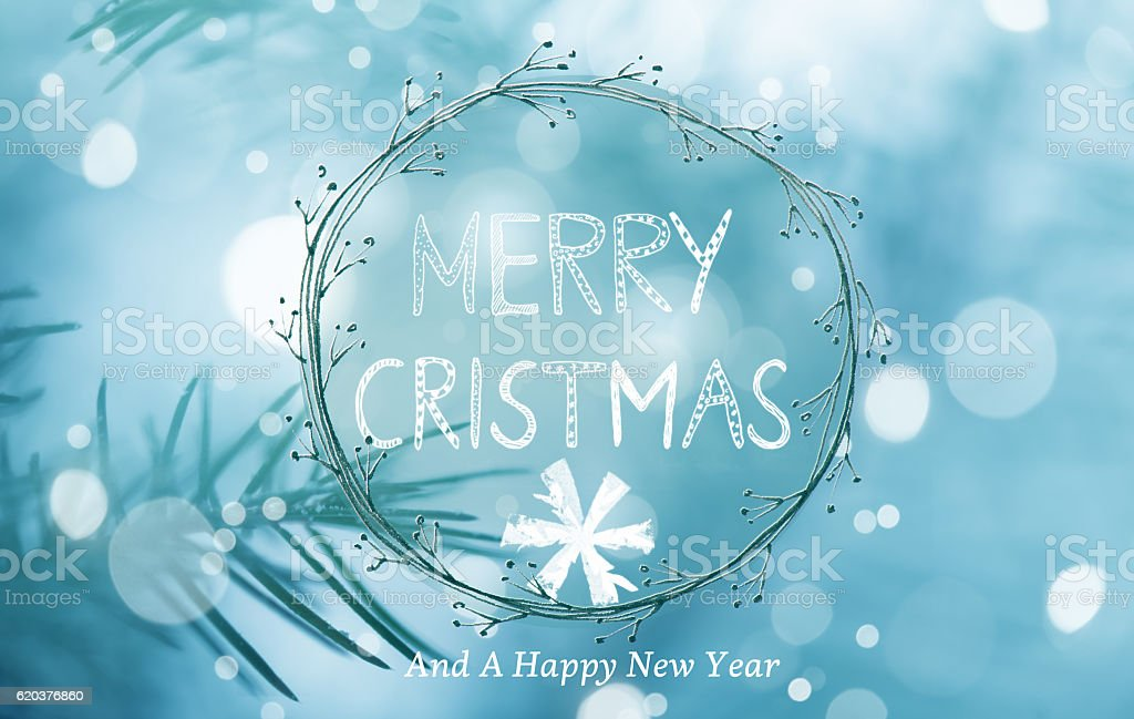 Christmas Greeting Card With Handwriting Elements foto de stock royalty-free