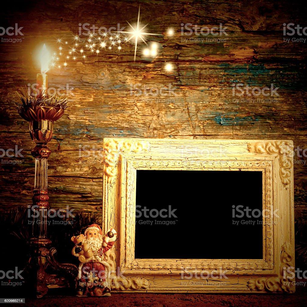 Christmas greeting photo frame card foto royalty-free