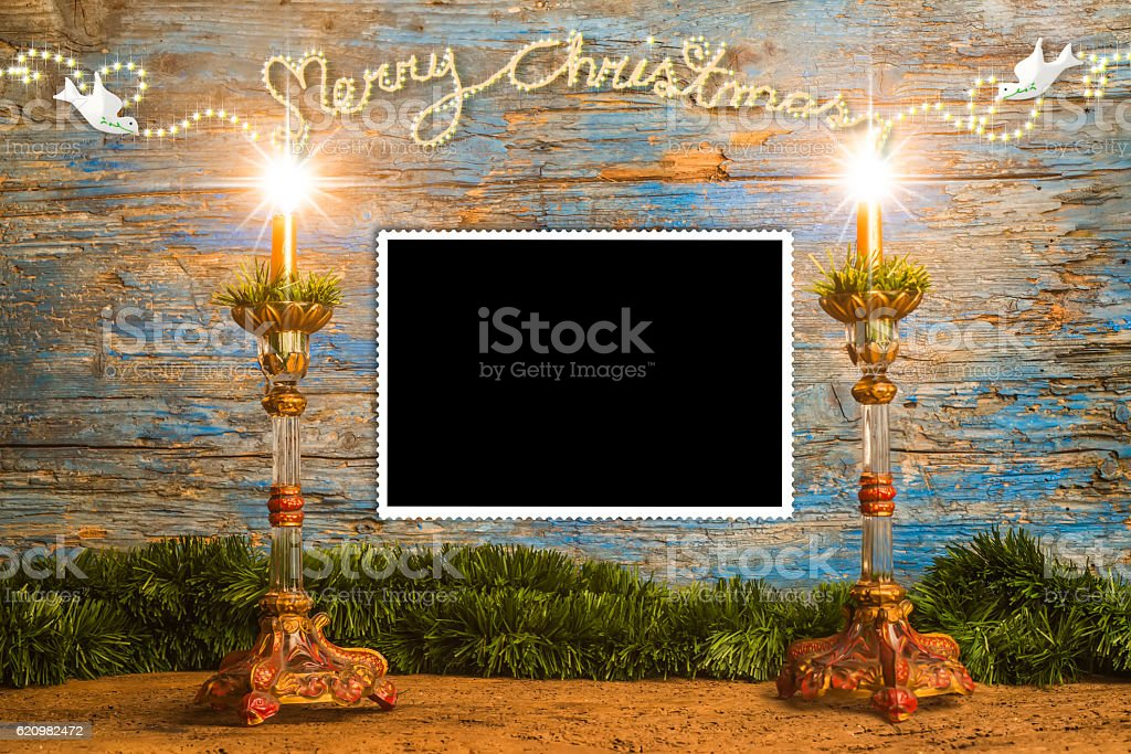 Christmas greeting to put a photo foto royalty-free