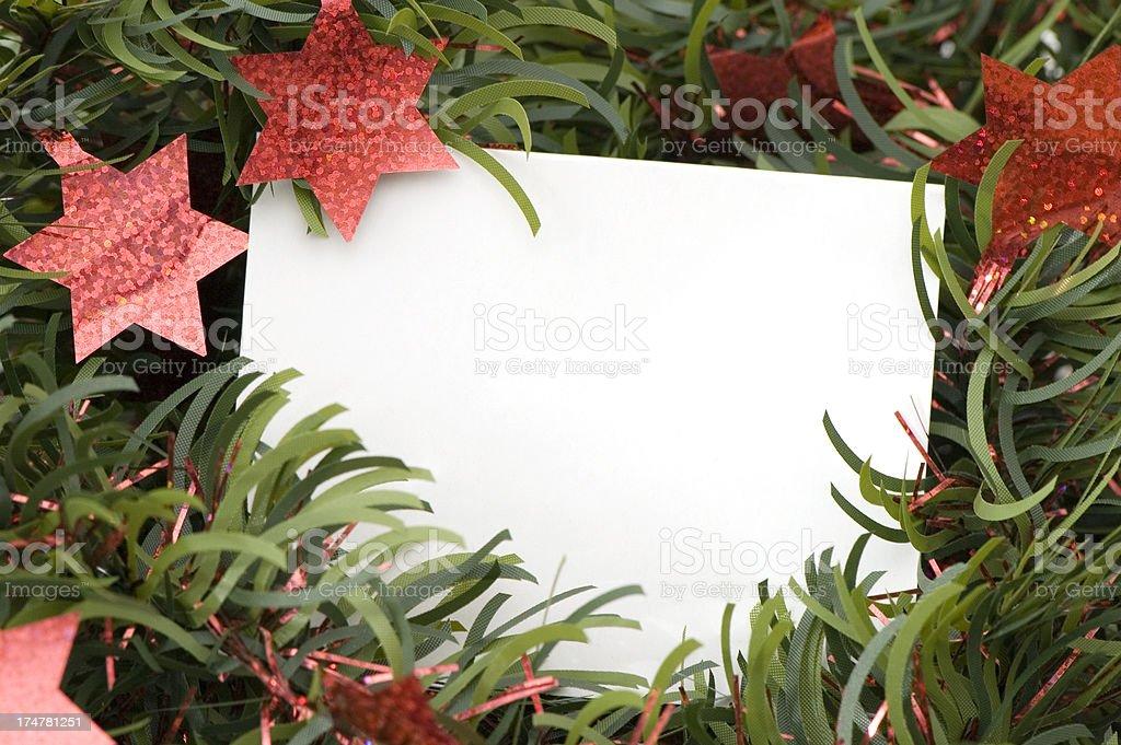 Christmas Greetings Card royalty-free stock photo