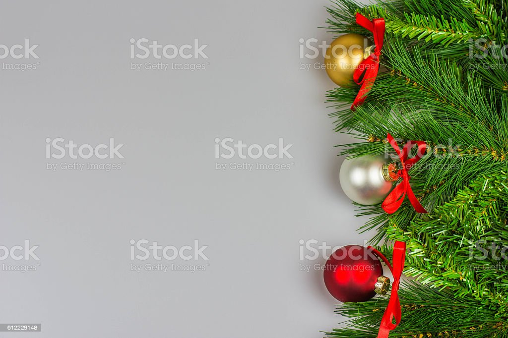 Christmas greetings card, white background stock photo