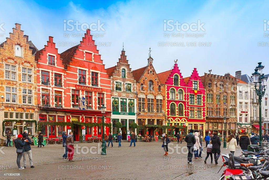 Noël Grote Markt mètres de Bruges, Belgique - Photo