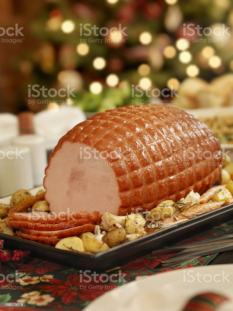 Christmas Ham royalty-free stock photo