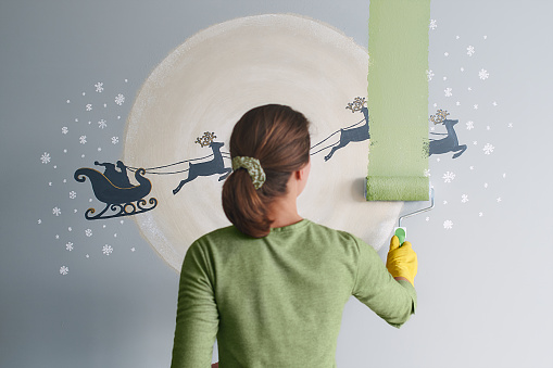 Christmas has gone and spring is coming - time for a change of wall color