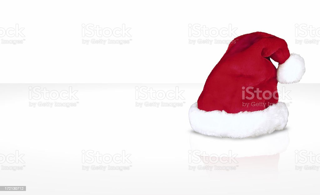 Christmas hat (red) royalty-free stock photo