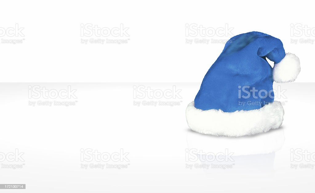 Christmas hat (blue) royalty-free stock photo
