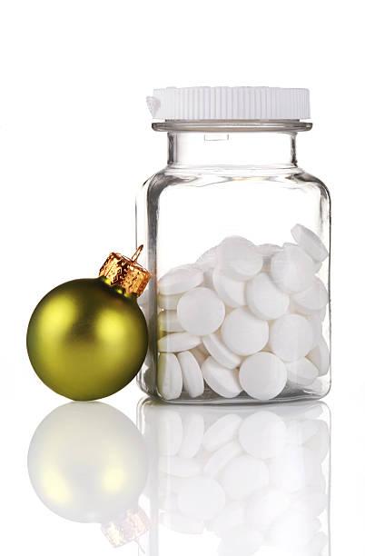 Christmas Headache stock photo