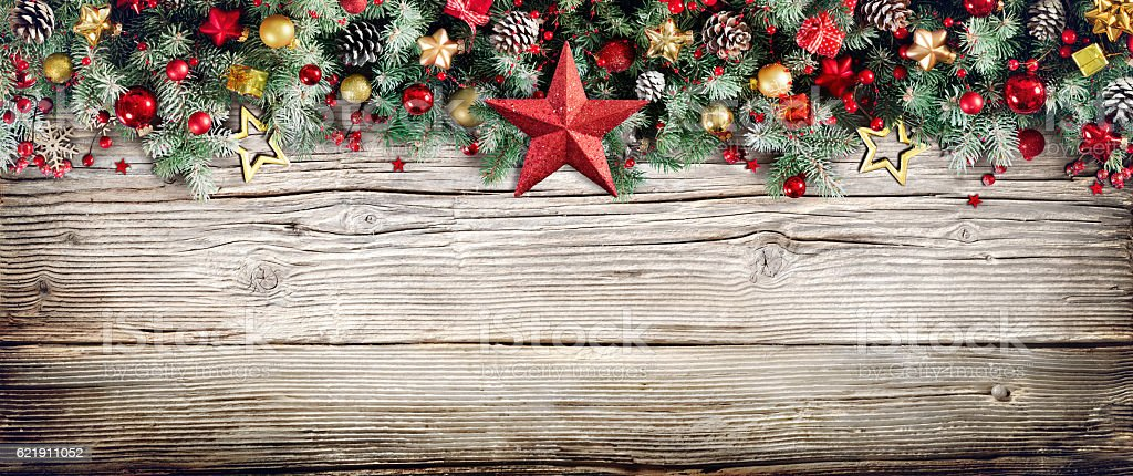 Christmas Header Border stock photo