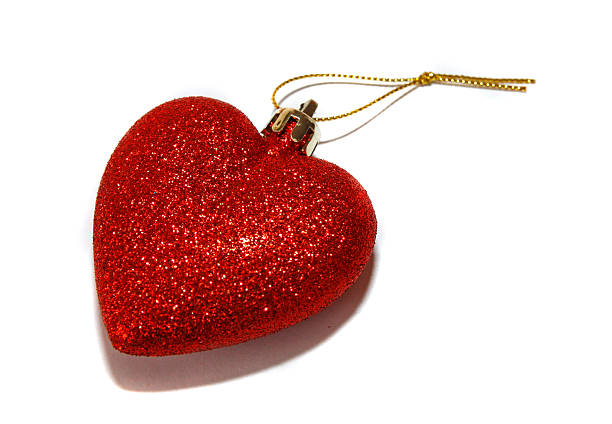 Christmas heart stock photo