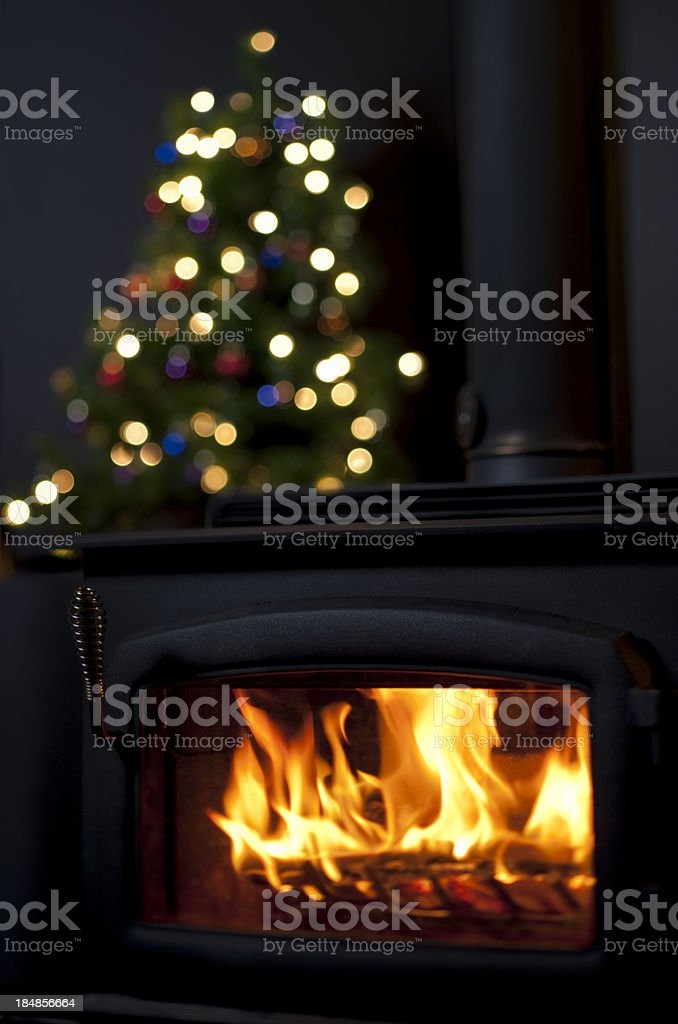 Christmas Hearth royalty-free stock photo