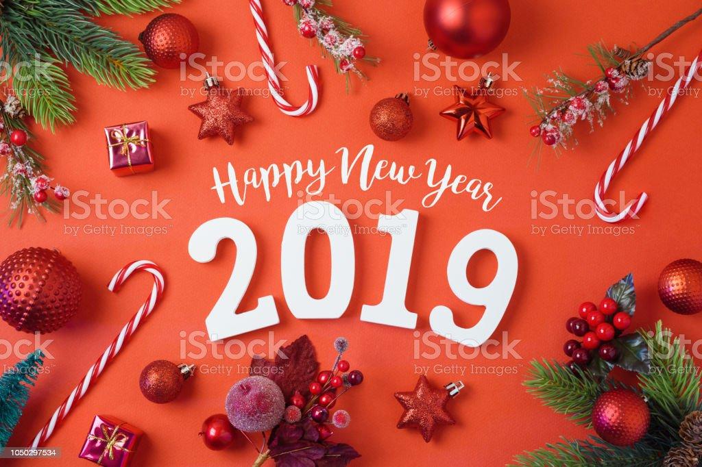 Weihnachten Urlaub 2019.Weihnachten Urlaub Hintergrund Mit Neujahr 2019 Dekorationen Und