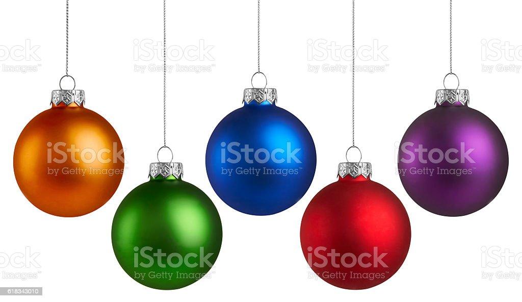 Christmas Holiday Balls stock photo