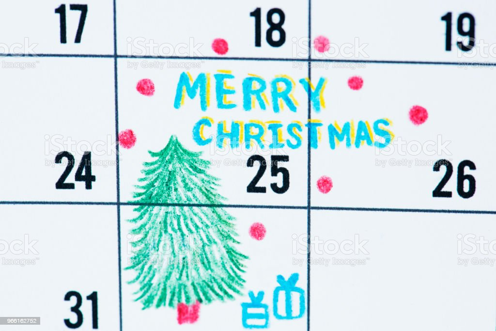 Kerst vakantie Agenda-herinnering ingesteld - Royalty-free Close-up Stockfoto
