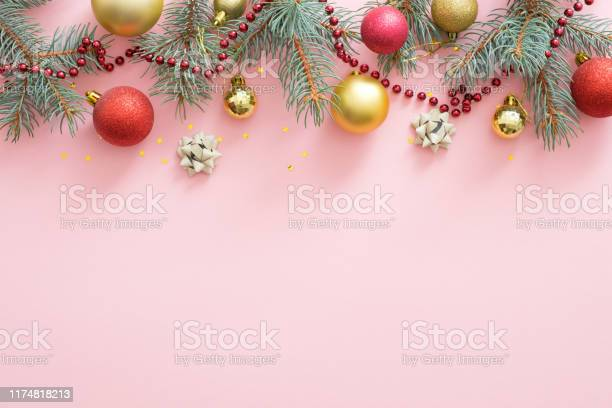 Christmas holiday composition christmas tree fir branches colorful picture id1174818213?b=1&k=6&m=1174818213&s=612x612&h=xlmz8bobl zaqmkfvnbvmc0ddbtqhpinitixoksbw3o=