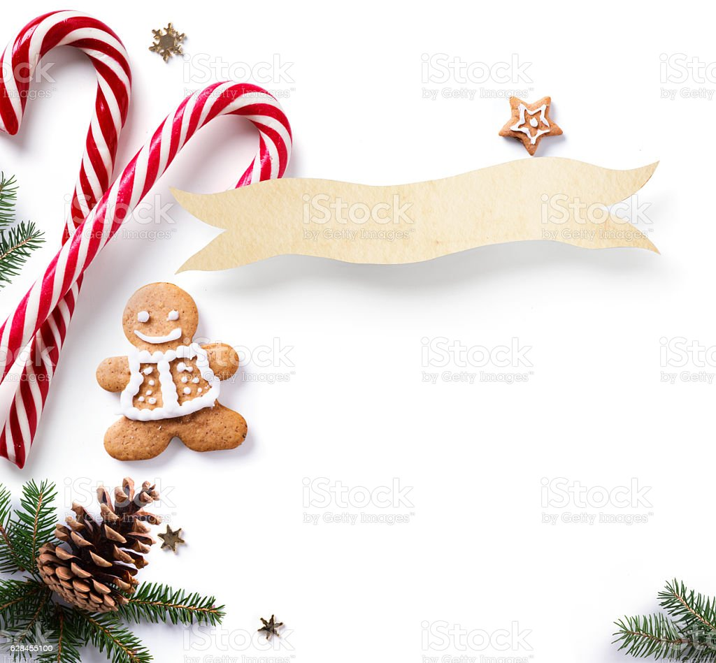Christmas Boarder.Christmas Holiday Decoration Element Christmas Border With Fir Stock Photo Download Image Now