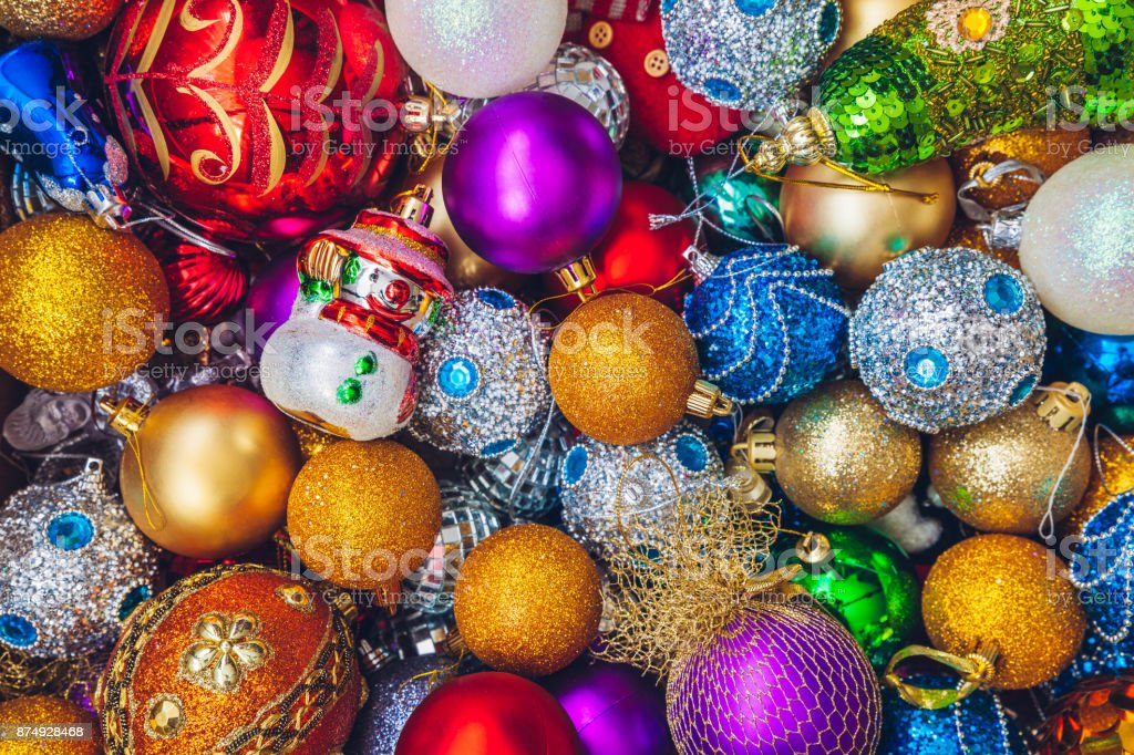 Christmas holiday decorations stock photo