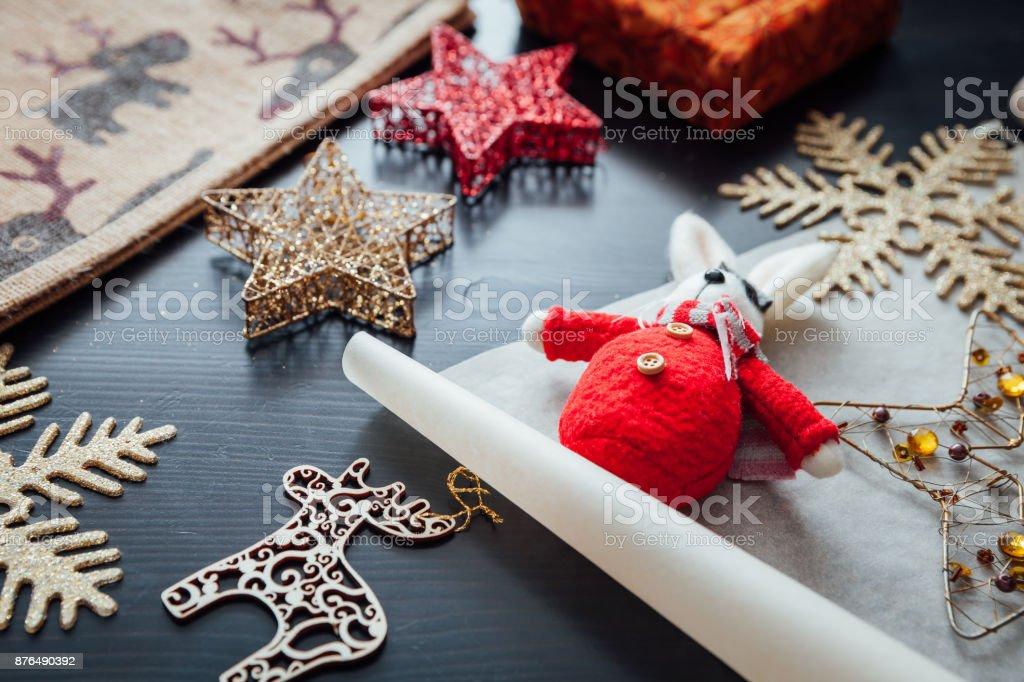 Christmas holiday decorations royalty-free stock photo
