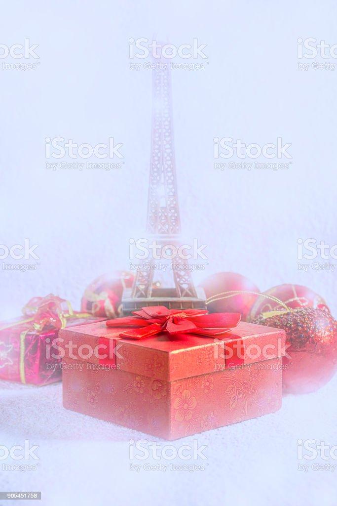 Weihnachten in Paris - Lizenzfrei Dekoration Stock-Foto