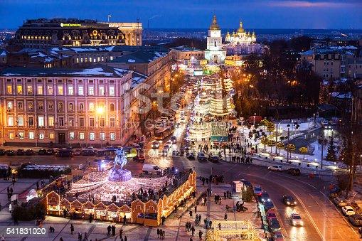 istock Christmas holiday in the Kyiv, Ukraine 541831020