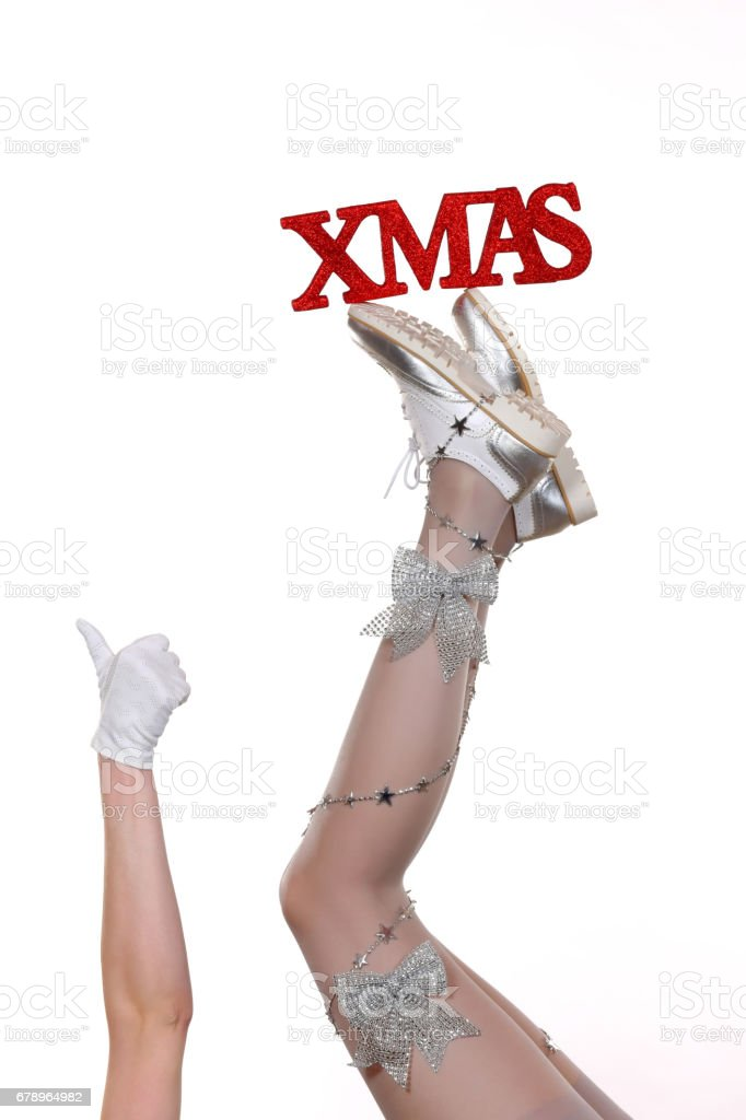 Christmas Holiday Legs photo libre de droits
