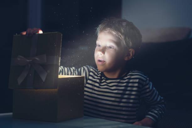 Christmas holiday magic stock photo