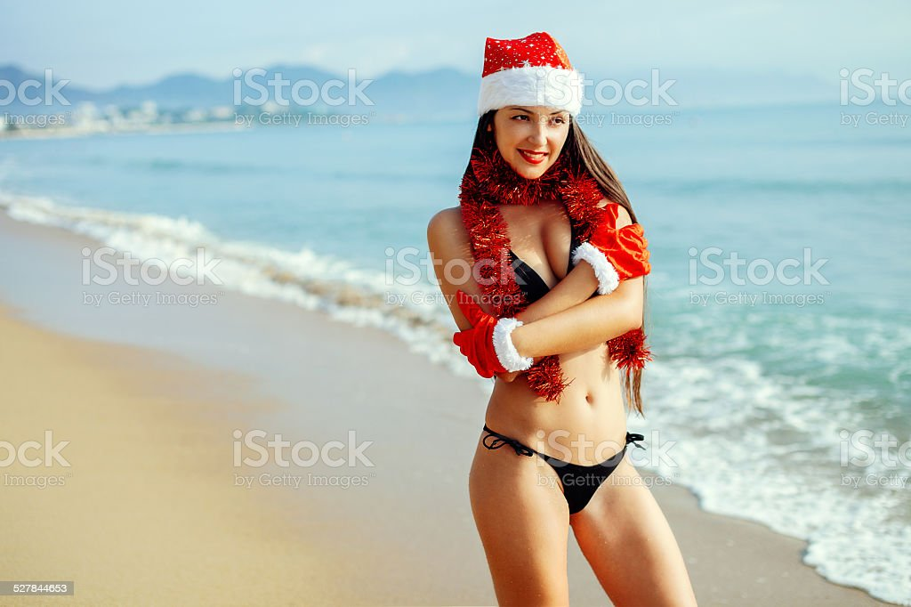 christmas holiday on the beach stock photo