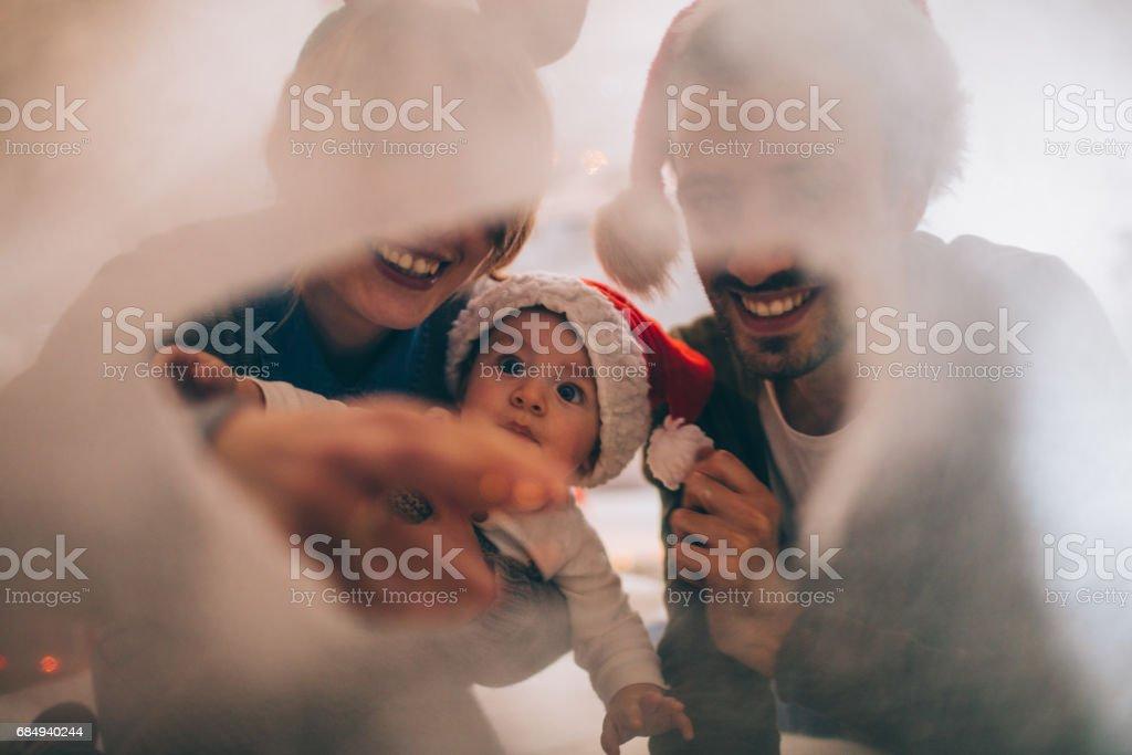 Weihnachtsferien in unser gemütliches Zuhause Lizenzfreies stock-foto
