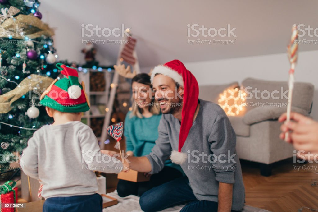 Christmas holidays with family royalty-free stock photo