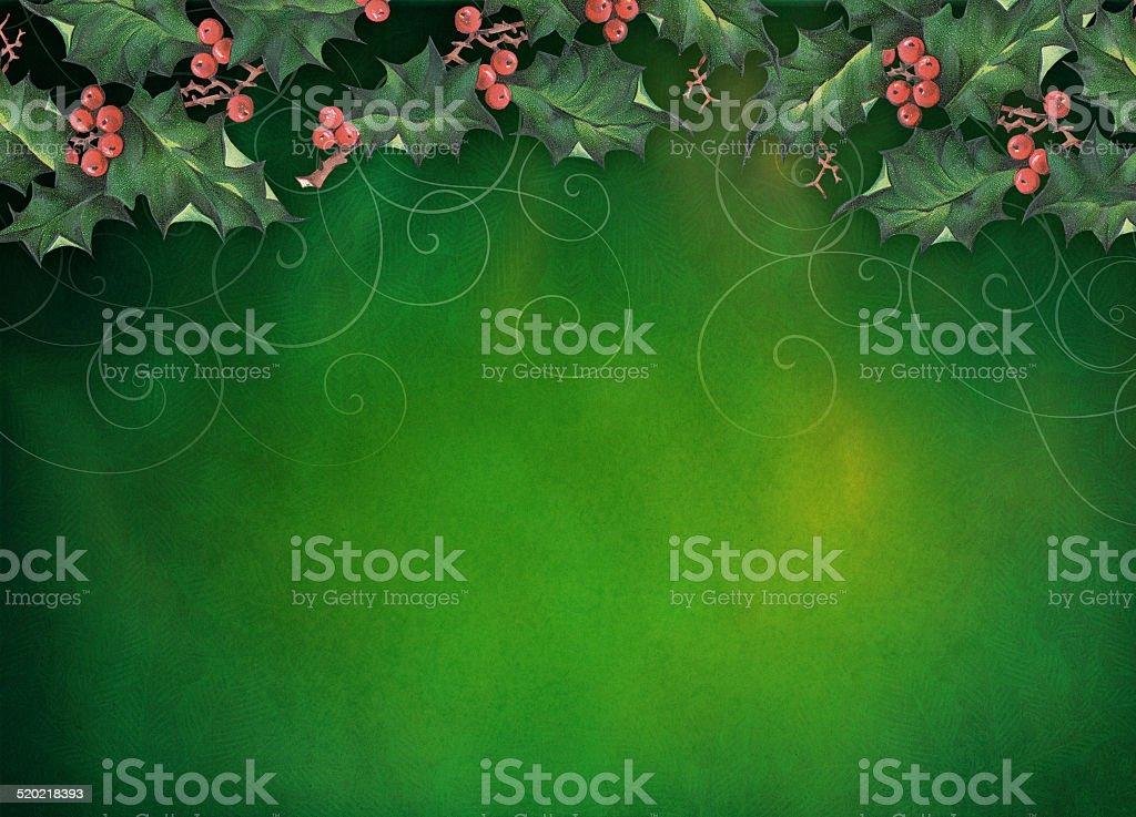 Christmas Holly Background stock photo