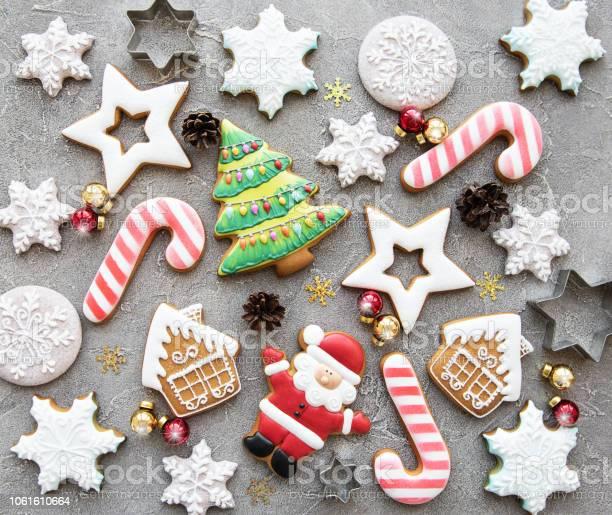 Christmas Homemade Gingerbread Cookies - Fotografias de stock e mais imagens de Abeto