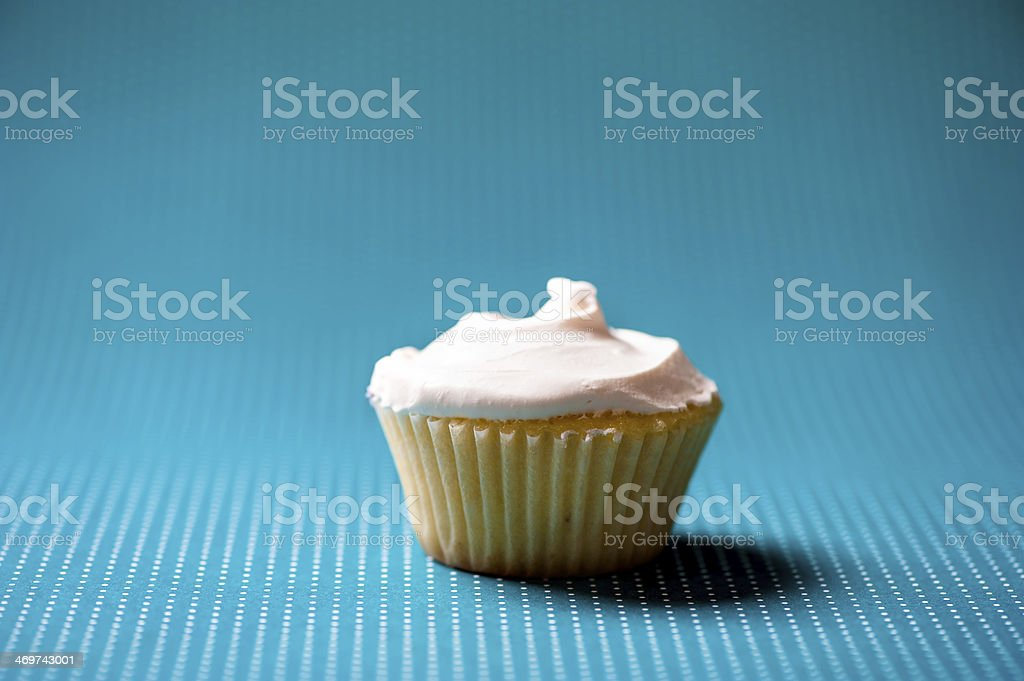 Christmas homemade vanilla cupcake with sweet cream on top again royalty-free stock photo