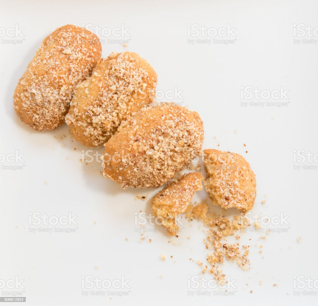 Christmas honey cakes with nuts stock photo
