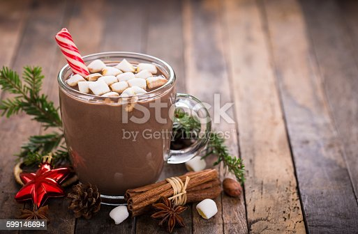 istock Christmas hot chocolate with marshmallow 599146694