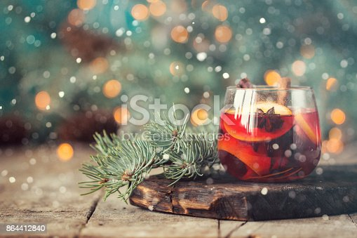 istock christmas hot mulled wine with cinnamon cardamom and anise on wooden background 864412840
