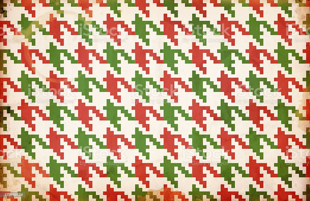 Christmas Houndstooth Paper XXXL royalty-free stock photo