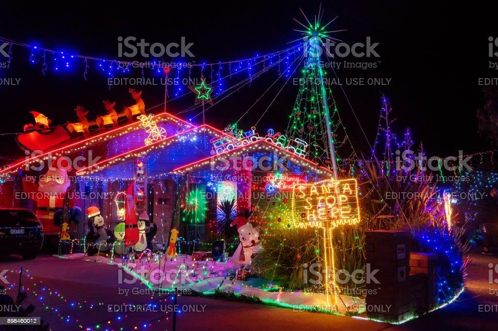 Christmas House - 3 Hugo Court, Narre Warren, Melbourne royalty-free stock photo