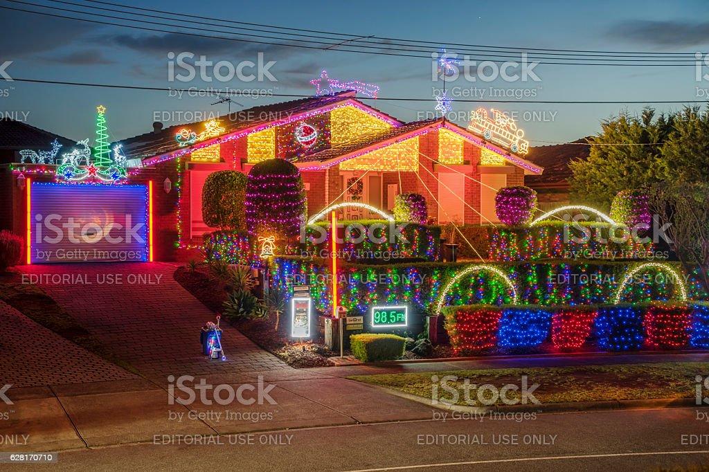 Christmas House - Allumba Drive, St Helena, Melbourne stock photo