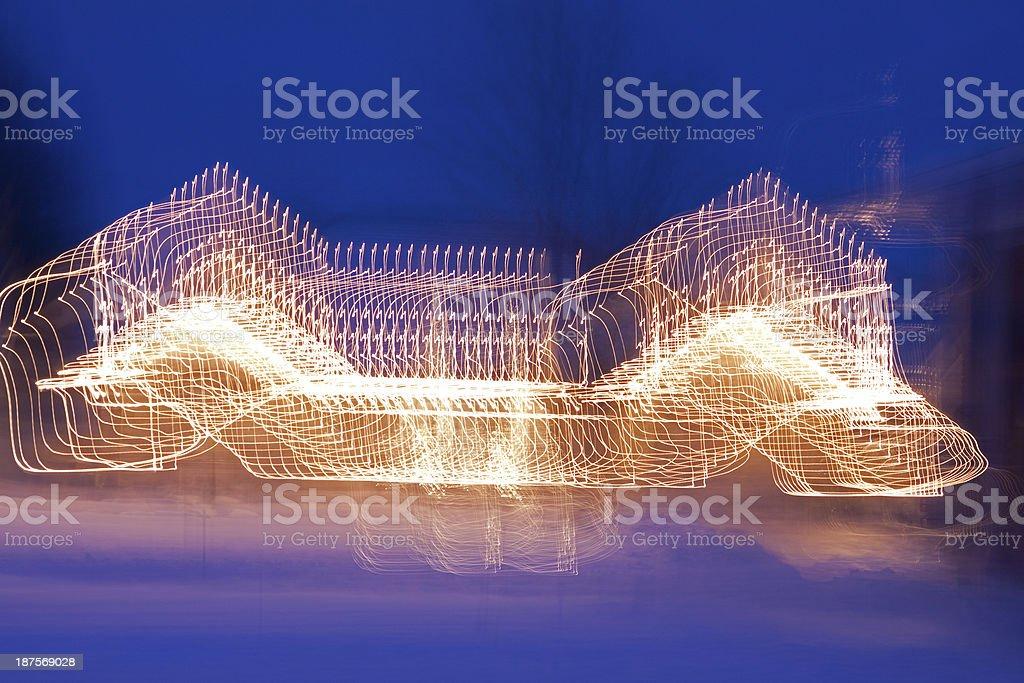 Christmas house glow royalty-free stock photo