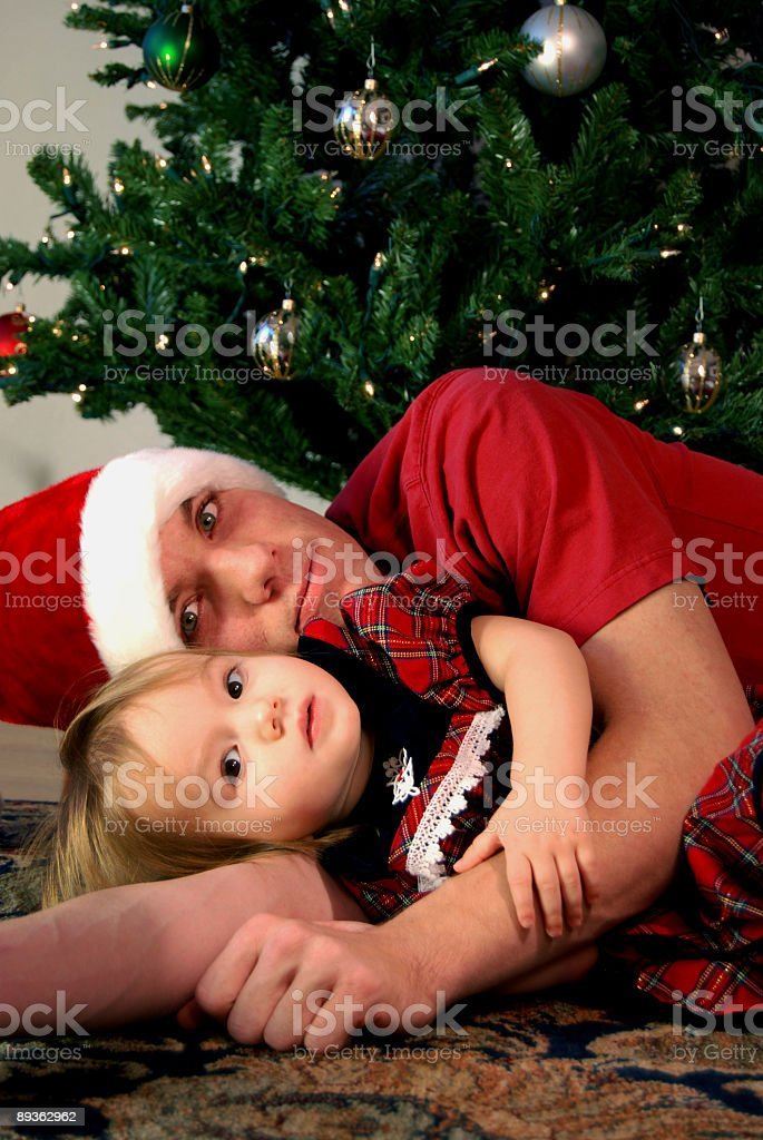 Christmas Hug royalty-free stock photo